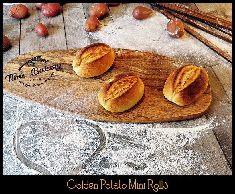 Golden Potato Mini Rolls
