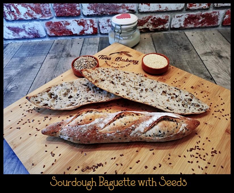 Sourdough Baguette with Seeds